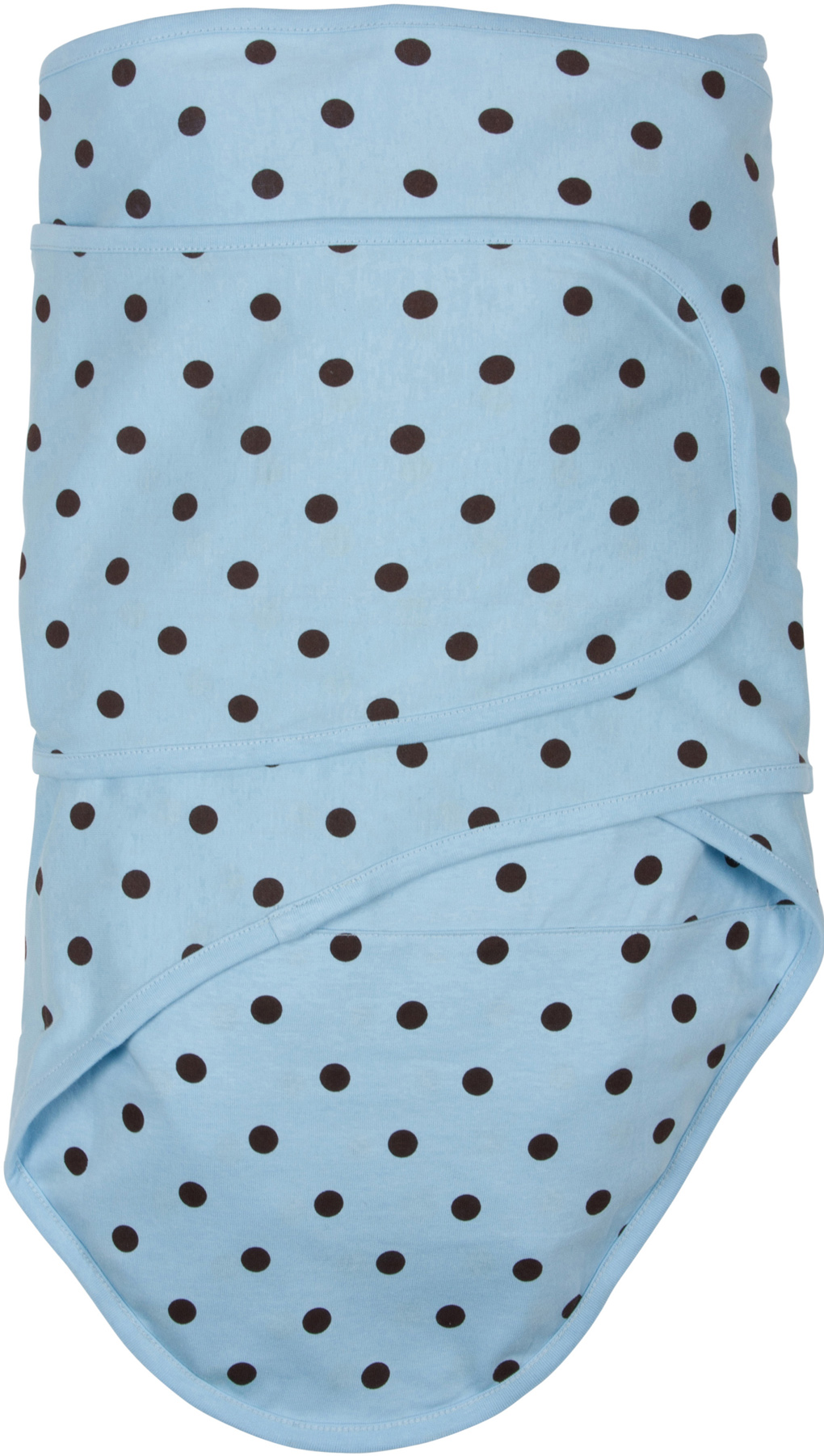 Miracle Blanket®: Blue with Brown Polka Dots
