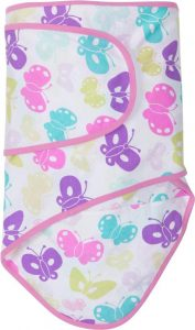 Miracle Blanket®: Butterflys with Pink Trim