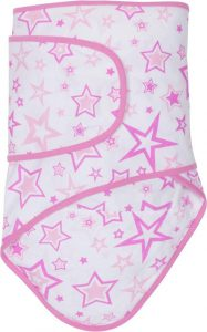 Miracle Blanket®: Pink Stars with Pink trim