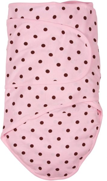 Miracle Blanket®: Pink with Brown Polka Dots