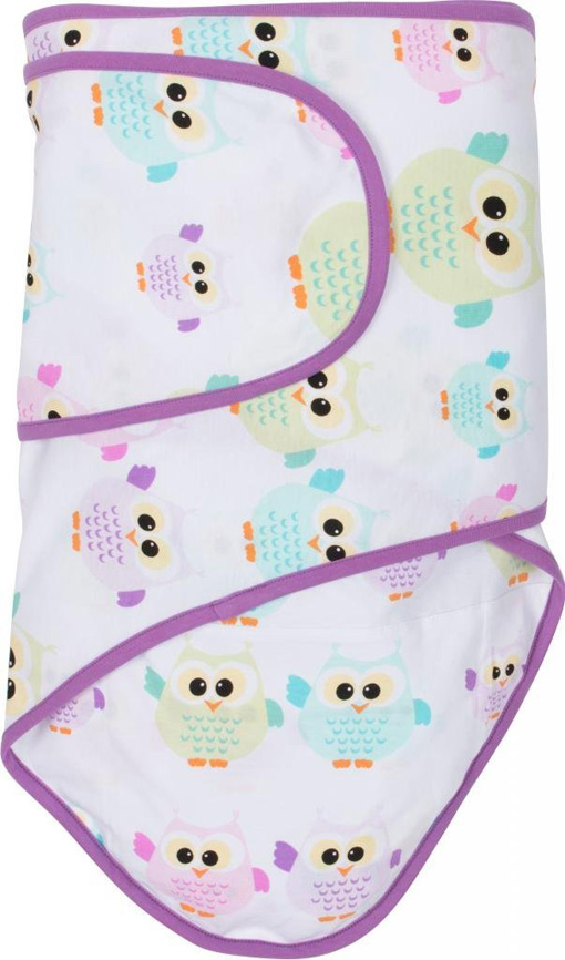 Miracle Blanket®: Owls with Purple trim