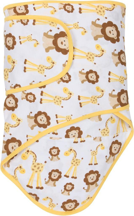 Miracle Blanket®: Giraffes & Lions with Butter Yellow Trim
